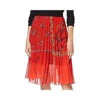 Desigual skirt andrea gonna, rosso (rojo clavel 3036), 50 (taglia produttore: 44) donna