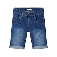 Name It nkmsofus dnmtax 2012 long shorts noos pantaloncini, blu (medium blue denim medium blue denim), 140 bambino