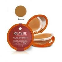 Rilastil sun system fondotinta correttore del colore protezione solare spf 50+ bronzé