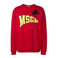 MSGM felpa con logo.