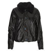 OOF abbigliamento donna giacca reversibile eco pelle nero OOF