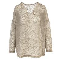 BIONEUMA abbigliamento donna maglia misto lana merino beige / grigio BIONEUMA