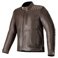 ALPINESTARS crazy eight giacca pelle - (marrone)