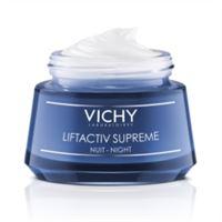 Vichy liftactiv supreme - crema notte antiage rughe e perdita di tono, 50ml