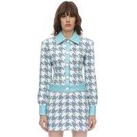 ROWEN ROSE giacca exclusive in tweed di cotone check