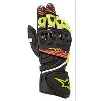 Alpinestars guanti moto pelle racing Alpinestars gp plus r v2 nero giallo fluo rosso fluo