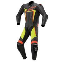 Alpinestars tuta moto pelle intera racing Alpinestars motegi v3 nero giallo fluo rosso fluo