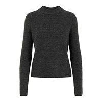 PIECES pcellen ls o-neck knit noos felpa, grigio (dark grey melange dark grey melange), small donna