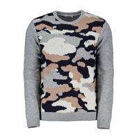 SUN68 maglione girocollo jacquard camouflage