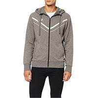 Arena stretch giacca con cappuccio da uomo, grigio (dark grey melange), s