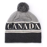 Canada Goose cappellino Canada Goose in lana grigia con pompom