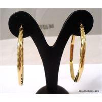 oro 18 kt orecchini cerchi in oro giallo 18 kt