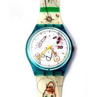 Swatch watch collection 3d