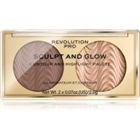 Revolution PRO sculpt and glow palette contouring colore savanna nights 2x2 g