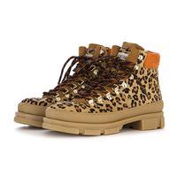 STOKTON scarpe donna stivali trekking cavallino / camoscio leopardo STOKTON