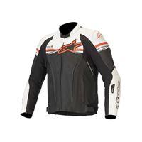 Alpinestars giacca gp r v2 leather t-air comp. Nero bianco rosso