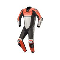 Alpinestars tuta missile ignition 1pc tech-air rosso fluo bianco nero