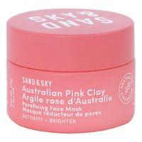 SAND AND SKY maschera per ridurre i pori - argilla rosa australiana - formato viaggio