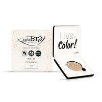 Purobio cosmetics ombretto compatto shimmer champagne 01