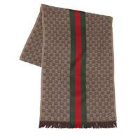 GUCCI sciarpa in lana e seta