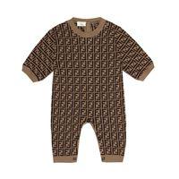 FENDI Kids baby - tutina in cotone, cashmere e lana