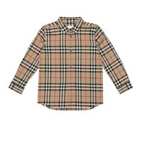 Burberry Kids camicia in cotone vintage check