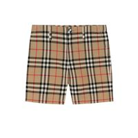 Burberry Kids shorts vintage check in cotone