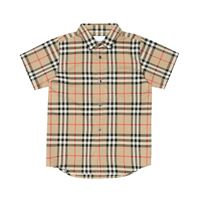 Burberry Kids camicia a quadri in cotone
