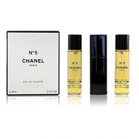 Chanel - n°5 eau de toilette vaporisateur de sac purse spray, 3 x 20 ml