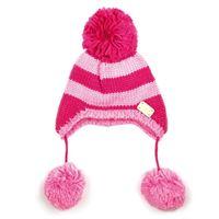 BLADE & ROSE cappello rosa a righe con ponpon s (0-12 mesi)