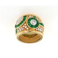 Crivelli anello fascia smeraldo 1,86 dimanti 1,16 crivelli