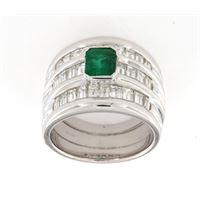 Crivelli anello fascia smeraldo 0,52 diamanti 2,28 crivelli