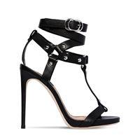 DSQUARED2 sandali in pelle con borchie 120mm