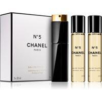 Chanel n°5 eau de toilette (1x ricaricabile + 2x ricariche) da donna 3 x 20 ml