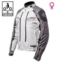 BEFAST giacca moto donna touring befast transformer lady ce certificata 3 strati nero grigio