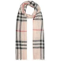 Burberry sciarpa in lana e seta