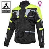 BEFAST giacca moto donna touring befast touring tech lady ce certificata 3 strati nero giallo