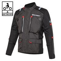 BEFAST giacca moto touring befast victory ce certificata 3 strati nero grigio