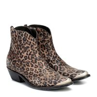 Golden Goose stivaletti young in suede animalier