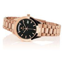 Hoops orologio hoops luxury in acciaio 2620l rg02 black rose gold