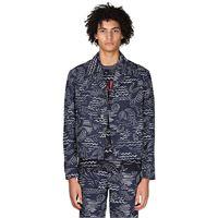KENZO giacca in misto cotone stampato