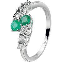 Bliss rugiada 20085149 gioiello donna anello oro diamanti