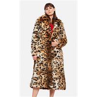 Alanui cappotto oversize con stampa leopardata