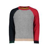 IN THE BOX maglione girocollo color block in mohair