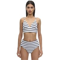 EBERJEY top bikini retro in misto nylon a costine