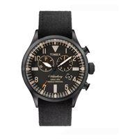 Timex orologio al quarzo waterbury chrono quadrante in acciaio 42 mm case colore nero - quadrante nero cinturino in tessuto nero 22 mm con luce notturna indiglo resistente all'acqua fino a 50 m di profondita