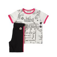 MONCLER t-shirt e leggings in jersey di cotone