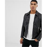 Bolongaro Trevor - giacca in pelle slim-nero