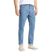 Lee brooklyn straight jeans, blu (light stonewash 66), w31/l34 (taglia unica: 31/34) uomo