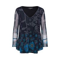 Desigual ts_brouke t-shirt, blu (marino 5001), medium donna